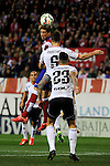 Atletico de Madrid´s Fernando Torres and Valencia CF´s Shkodran Mustafi during 2014-15 La Liga match between Atletico de Madrid and Valencia CF at Vicente Calderon stadium in Madrid, Spain. March 08, 2015. (ALTERPHOTOS/Luis Fernandez)