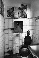 il gabinetto in una cella dell'ex carcere san Donnino di Como
