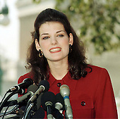 """Kate Shindle, Miss America 1998, participates in a press confrence at the United States Capitol in Washington, D.C. announcing her offensive to fight HIV/AIDS in America on October 9, 1997.  In her remarks, she said """"....we need to stop the rhetoric, and start taking action.  Whether its condom distribution, needle exchanges or just talking to our kids about sex, the time is long past for us to stop waiting passively for one solution"""" [to fight AIDS]..Credit: Ron Sachs / CNP"""