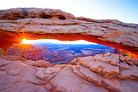 Mesa Arch at Dawn, Island in the Sky District, Above Colorado River, Canyonlands National Park, near Moab, Utah