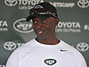 Todd Bowles, New York Jets head coach, speaks with the media after a day of team training camp at Atlantic Health Jets Training Center in Florham Park, NJ on Friday, Aug. 5, 2016