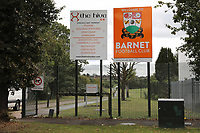 General view of the entrance to The Hive, Home of Barnet FC during Barnet vs Solihull Moors, Vanarama National League Football at the Hive Stadium on 28th September 2019