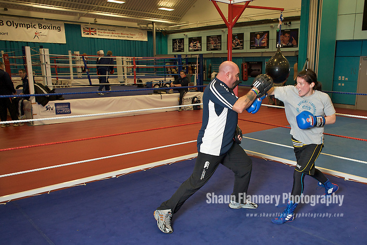 Pix: Shaun Flannery/shaunflanneryphotography.com..COPYRIGHT PICTURE>>SHAUN FLANNERY>01302-570814>>07778315553>>..7th November 2009..........GB Womens Boxing Assesment Camp, English Institute for Sport, Sheffield..Rebecca Donnelly