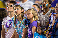Orlando, FL - Thursday June 23, 2016: Fans after a regular season National Women's Soccer League (NWSL) match between the Orlando Pride and the Houston Dash at Camping World Stadium.