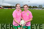 Under 13 Gaynor Cup team captain Lucy O'Sullivan (Captain, Fossa) and Katie Doe (Vice Captain, Firies) both from Killarney Celtic.