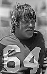 San Francisco 49ers training camp August 3, 1982 at Sierra College, Rocklin, California.  San Francisco 49ers linebacker Lee Jack Reynolds (64).