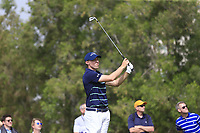 Matthew Fitzpatrick (ENG) on the 4th tee during Round 1 of the Omega Dubai Desert Classic, Emirates Golf Club, Dubai,  United Arab Emirates. 24/01/2019<br /> Picture: Golffile | Thos Caffrey<br /> <br /> <br /> All photo usage must carry mandatory copyright credit (&copy; Golffile | Thos Caffrey)