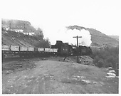 Double-headed D&amp;RGW freight passing by south of Durango.<br /> D&amp;RGW  s. of Durango, CO