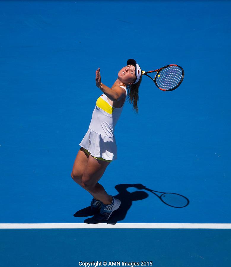 Elina Svitolina (UKR)<br /> <br /> Tennis - Australian Open 2015 - Grand Slam -  Melbourne Park - Melbourne - Victoria - Australia  - 24 January 2015. <br /> &copy; AMN IMAGES
