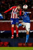 9th January 2018, Wanda Metropolitano, Madrid, Spain; Copa del Rey football, round of 16, second leg, Atletico Madrid versus Lleida; Yannick Carrasco (Atletico de Madrid) wins the header