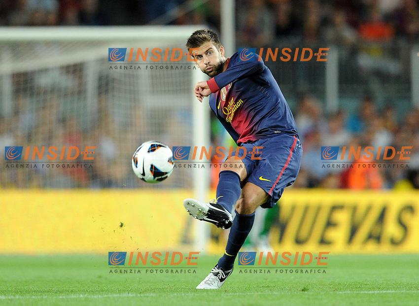 Gerard Pique (Barcelone) .Barcellona 02/09/2012.Football Calcio 2012/2013.Liga .Barcellona vs Valencia.Foto Insidefoto / Panoramic .Italy Only