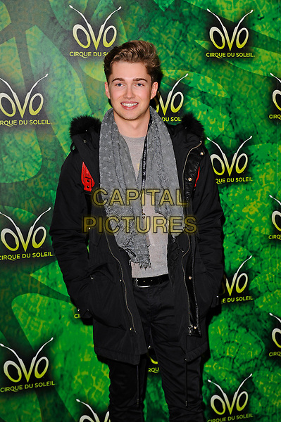 LONDON, ENGLAND - JANUARY 10: AJ Pritchard attending 'Cirque du Soleil - OVO' at the Royal Albert Hall on January 10, 2018 in London, England.<br /> CAP/MAR<br /> &copy;MAR/Capital Pictures