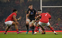 Wales' Ellis Jenkins is tackled by Tonga's Siegfried Fisi'Ihoi<br /> <br /> Photographer Ian Cook/CameraSport<br /> <br /> Under Armour Series Autumn Internationals - Wales v Tonga - Saturday 17th November 2018 - Principality Stadium - Cardiff<br /> <br /> World Copyright © 2018 CameraSport. All rights reserved. 43 Linden Ave. Countesthorpe. Leicester. England. LE8 5PG - Tel: +44 (0) 116 277 4147 - admin@camerasport.com - www.camerasport.com
