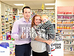 Joe McNally of McNallys Pharmacy 365 Duleek with Zac Fanthorpe and his mam Denise. Photo:Colin Bell/pressphotos.ie