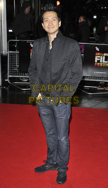 LONDON, ENGLAND - OCTOBER 13: Orion Lee attends the &quot;X + Y&quot; official screening, 58th LFF day 6, Odeon West End cinema, Leicester Square, on Monday October 13, 2014 in London, England, UK. <br /> CAP/CAN<br /> &copy;Can Nguyen/Capital Pictures