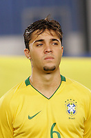 Brazil's Diogo (6) stands on the pitch before the game against Costa Rica during the FIFA Under 20 World Cup Semi-final match at the Cairo International Stadium in Cairo, Egypt, on October 13, 2009. Brazil won the match  1-0.
