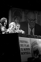 FILE - Fellini's wife Giulletta Massina<br />  at the World Film Festival, September 1st, 1986<br /> <br />  Photo : Pierre Roussel - Agence Quebec Presse