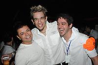 SAO PAULO, SP, 03 DE JUNHO 2012 - SKOL SENSATION 2012 - (E/D) David Brazil, Kiko e o ex bbb Max durante a edicao do 2012 do Festival Skol Sensation realizado no Anhembi na noite de ontem sábado, 02. (FOTO: MARCOS MADI / BRAZIL PHOTO PRESS).