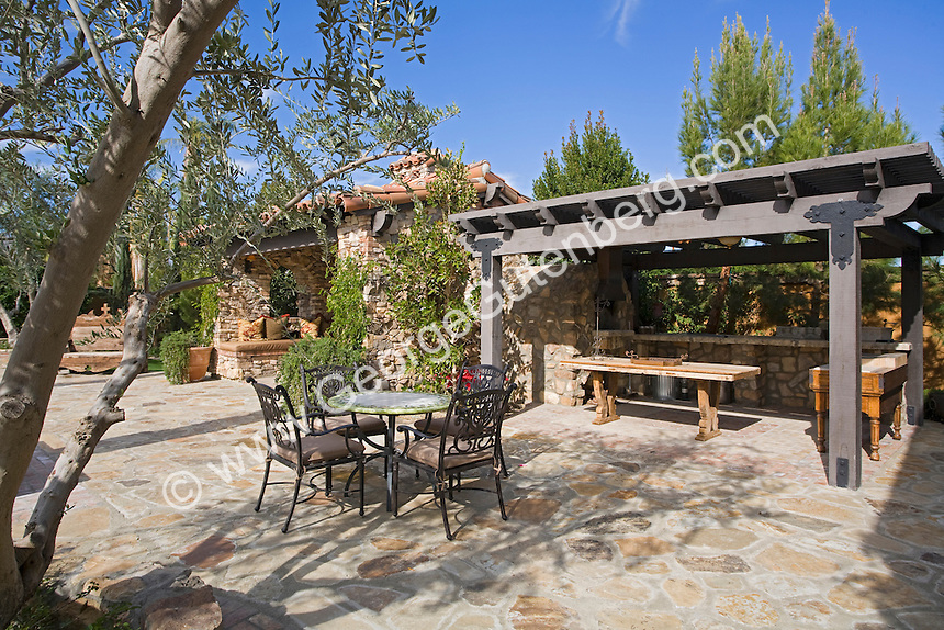 Rustic Outdoor Eating Area At Large Estate