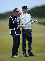 Chris Stroud of USA looks on with his caddie during the Final Round of the 2015 Alfred Dunhill Links Championship at the Old Course, St Andrews, in Fife, Scotland on 4/10/15.<br /> Picture: Richard Martin-Roberts | Golffile