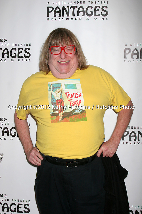 "LOS ANGELES - DEC 4:  Bruce Vilanch arrives to ""Donny & Marie - Christmas in Los Angeles"" Opening Night at Pantages Theater on December 4, 2012 in Los Angeles, CA"