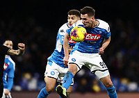 6th January 2020; Stadio San Paolo, Naples, Campania, Italy; Serie A Football, Napoli versus Inter Milan; Arkadiusz Milik of Napoli with a goal opportunity that gets misdirected