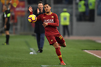 Justin Kluivert of AS Roma reacts during the Serie A 2018/2019 football match between AS Roma and FC Bologna at stadio Olimpico, Roma, February 18, 2019 <br />  Foto Andrea Staccioli / Insidefoto