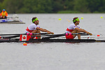 Rowing, Canada Lightweight Men's Double Sculls, Douglas Vandor, bow, Cameron Selvestor, stroke, 2010 FISA World Rowing Championships, Lake Karapiro, Hamilton, New Zealand, semifinal, Wednesday, November 3, 2010,