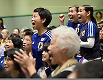 Japan fans (JPN), JULY 6, 2015 - Football / Soccer : Tokyo, Japan - Japanese supporters get themselves carried away as they watch the final soccer match of the FIFA Wormens World Cup Canada 2015 in public viewing at a Tokyo civic center on Monday, July 6, 2015. Defending champion Japan bowed to U.S.A in a 2-5 lopsided score in the game played in Vancouver, Canada.  (Photo by Natsuki Sakai/AFLO) AYF -mis-