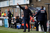 Dover Manager, Andy Hessenthaler during Dover Athletic vs Southend United, Emirates FA Cup Football at the Crabble Athletic Ground on 10th November 2019
