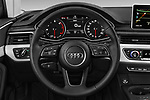 Car pictures of steering wheel view of a 2017 Audi A4 Premium 4 Door Sedan