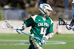 Los Angeles, CA 02/06/16 - Troy Brown (Cal Poly #4)in action during the Cal Poly SLO Mustangs vs Loyola Marymount Lions MCLA Men's Lacrosse game.  Cal Poly defeated LMU 24-5