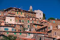 Italien, Toskana, Campiglia Marittima, Altstadt