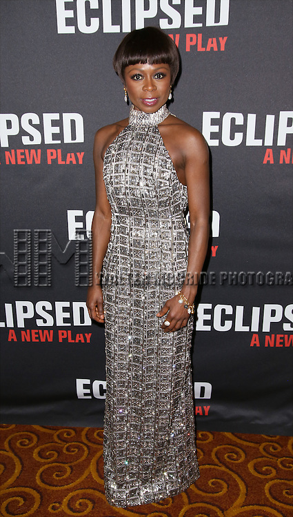 Zainab Jah attends the 'Eclipsed' broadway opening night after party at Gotham Hall on March 6, 2016 in New York City.