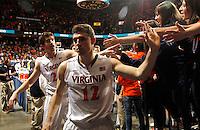 Virginia guard Joe Harris (12) during the game Saturday, February 22, 2014,  in Charlottesville, VA. Virginia won 70-49.