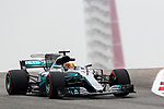 Mercedes driver Lewis Hamilton (44) of Great Britain in action before the Formula 1 United States Grand Prix race at the Circuit of the Americas race track in Austin,Texas.
