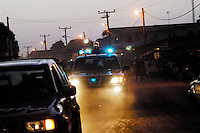 LIBERIA, 09/04/2007..Night patrol in the 'old road' area of Monrovia....© 2007 Aubrey Wade. All rights reserved...