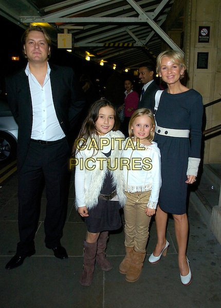 LISA MAXWELL & FAMILY .TV Times Christmas Carols With The Stars, Royal Albert Hall, London, England, 29th November 2007..full length black and white dress children kids .CAP/CAN.©Can Nguyen/Capital Pictures