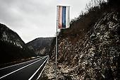 12.12.2009 Bosnia and Herzegovina<br /> Entry to the Republic of Srpska in Bosnia-Herzegovina, whose capital is Banja Luka.<br /> Bosnia and Herzegovina for many years dreamed to be adopted into the European Union. On the streets, everybody can see young and old people who looks like Europeans. Streets in the city center are also similar to European cities. Unfortunately, all people in BiH know that political disagreement between warring nationalities in the parliament does not help them to be accepted into the EU.<br /> Photo: Adam Lach / Newsweek Polska / Napo Images<br /> <br /> Wjazd do Republiki Serbskiej na terenie BiH, ktorej stolica jest Banja Luka.<br /> BiH od wielu lat marzy by przyjeto ja do UE. NA ulicach widac mlodych i starszych ludzi ktory wygladaja jak europejczycy. Ulice w centrum miasta sa rownie podobne do miast europejskich. Niestety wewnetrznie wszyscy wiedza ze polityczna niezgoda pomiedzy zwasnionymi narodowosciami w parlamencie nie pomaga im na to by przystapic do UE.<br /> Photo: Adam Lach /  Newsweek Polska / Napo Images