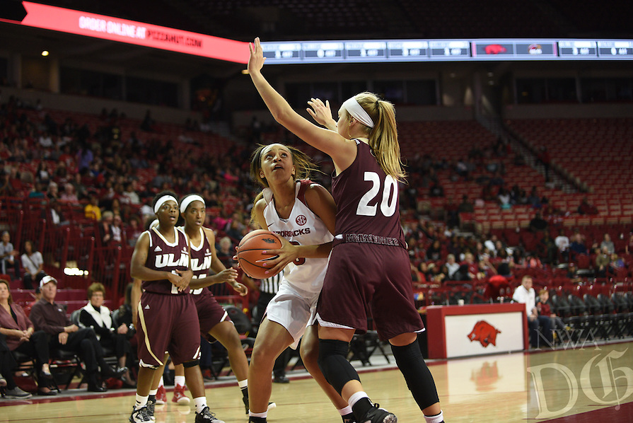 NWA Democrat-Gazette/J.T. WAMPLER Arkansas beat Louisiana-Monroe 92-46 Sunday Nov. 13, 2016 at Bud Walton Arena in Fayetteville.