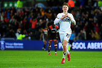 George Byers of Swansea City celebrates scoring his side's fourth goal during the FA Cup Fifth Round match between Swansea City and Brentford at the Liberty Stadium in Swansea, Wales, UK. Sunday 17 February 2019