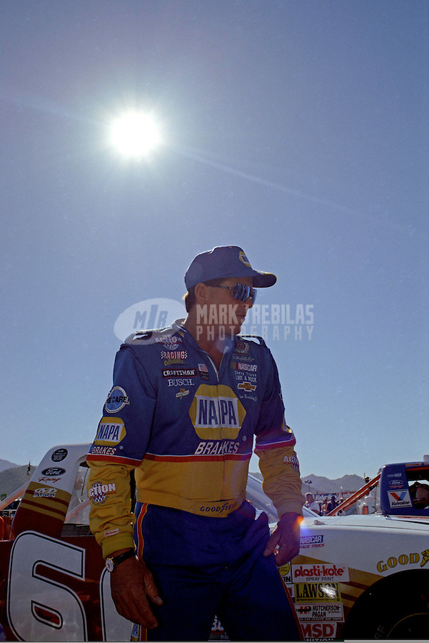 Nov. 1, 1997; Avondale, AZ, USA; NASCAR Craftsman Truck Series driver Ron Hornaday during the GM Goodwrench/Delco 300 at Phoenix International Raceway. Mandatory Credit: Mark J. Rebilas-