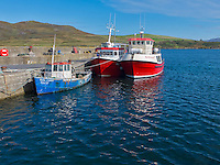 County Galway, Ireland:<br /> Fishing boats at Cleggan harbor in the Connemara region