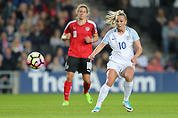 Toni Duggan (Manchester City) of England Women (right) during the Women's Friendly match between England Women and Austria Women at stadium:mk, Milton Keynes, England on 10 April 2017. Photo by PRiME Media Images / David Horn.