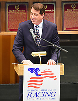 Scenes from the National Museum of Racing Hall of Fame ceremony (John Hendrickson) on August 03, 2018 at the Fasig-Tipton Sales Pavilion in Saratoga Springs, New York. (Bob Mayberger/Eclipse Sportswire)