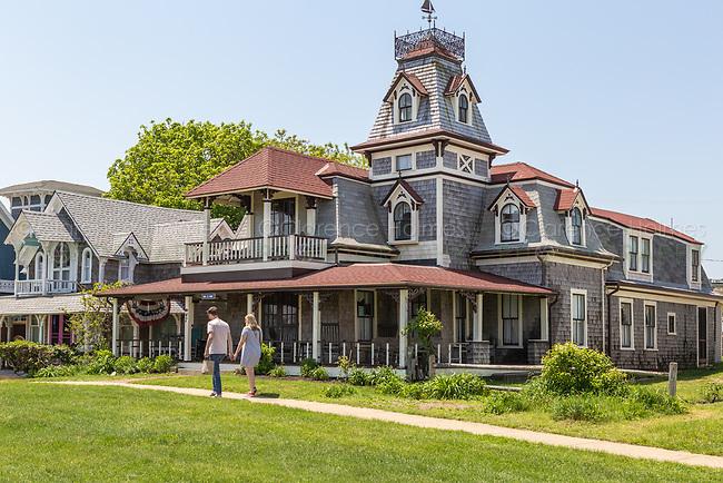 A Victorian era home on Ocean Avenue in Oak Bluffs, Massachusetts on Martha's Vineyard.