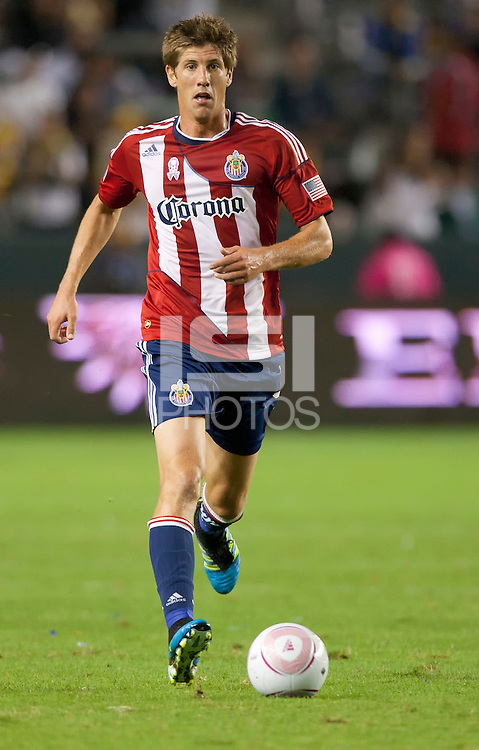 CARSON, CA - October 16, 2011: Chivas USA defender Andrew Boyens (2) during the match between LA Galaxy and Chivas USA at the Home Depot Center in Carson, California. Final score LA Galaxy 1, Chivas USA 0.
