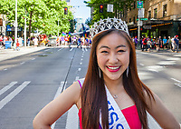 Miss Seafair Nella Kwan, Seattle Pride Parade 2016, Washington, USA.