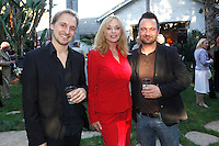 Composer Gerrit Wunder, Sybil Danning, Record Company executive Markus Unterberger.Austrian National Holiday Celebration with General Consul Dr Karin Proidl.Residenz of the Consul.Los Angeles, California.26 October 2009.Photo by Nina Prommer/Milestone Photo