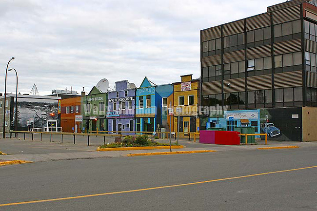 IMAGES OF THE YUKON,CANADA , city of Whitehorse, northern Canada , shops and businesses